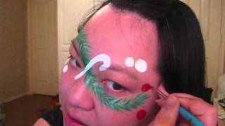 Request - Christmas Pine & Candy Canes - Face Painting tutorial Thumbnail