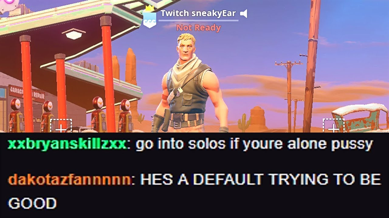 i put twitch in my fortnite name and thirsted every kill in solo squads - squad names for fortnite