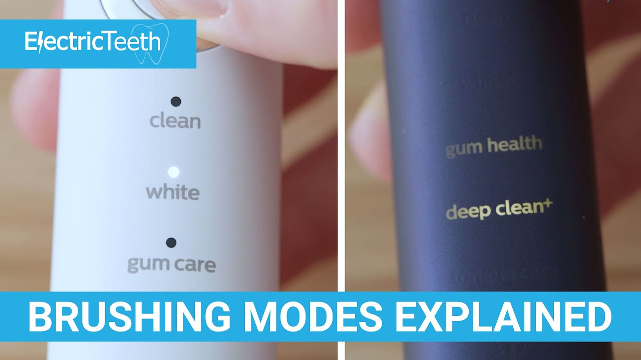 Sonicare Cleaning/Brushing Modes Explained