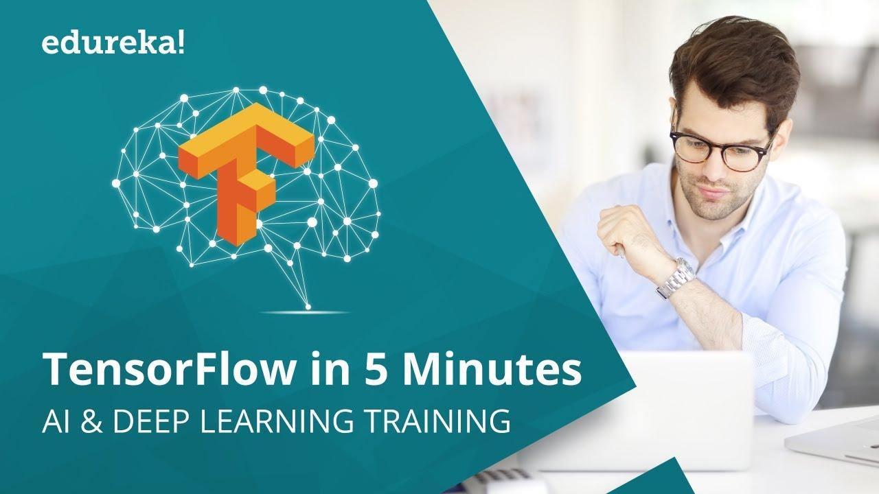TensorFlow in 5 Minutes | Introduction To TensorFlow | Deep Learning Using  TensorFlow | Edureka