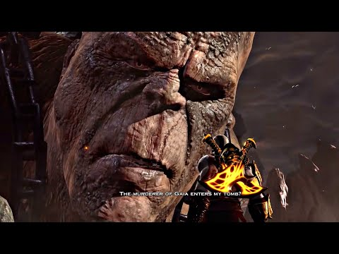 God of War 3 PS4  Cronos Titan Boss Fight 1080p 60fps Father of Zeus