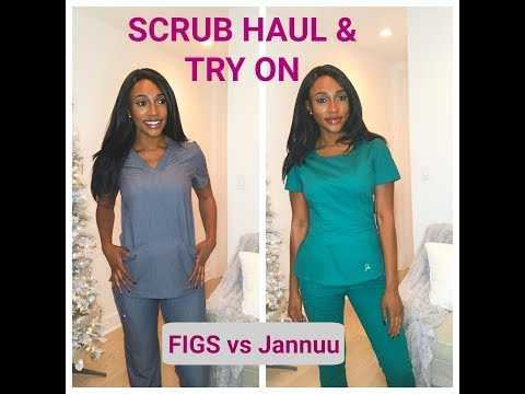 Nursing Scrubs HAUL / Review ( FIGS And Jaanuu)