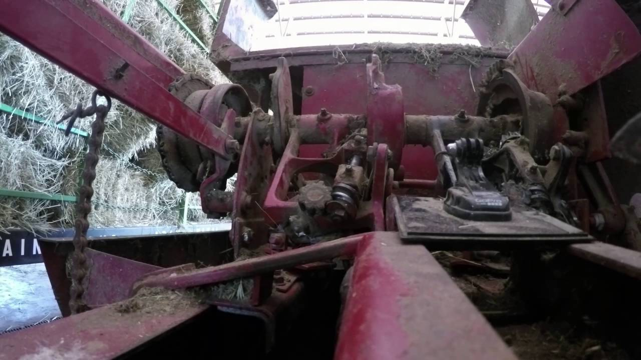 Working on the old small baler (New Holland 315)