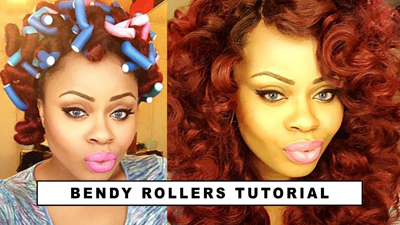 How To Curl Your Hair Using Bendy Rollers Edee Beau