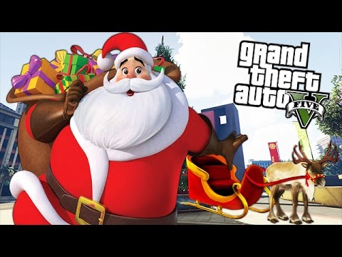 "GTA 5 Mods - SANTA CLAUS ""CHRISTMAS"" MOD! GTA 5 Santa Claus Christmas Gameplay (GTA 5 Mods)"