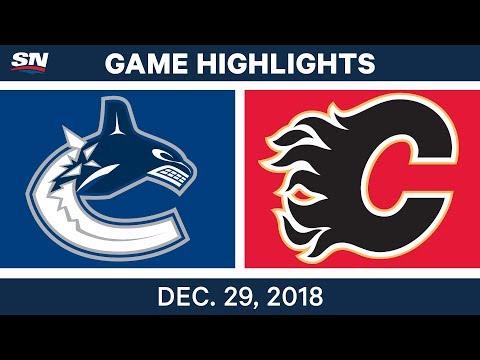 NHL Highlights | Canucks vs. Flames - Dec 29, 2018