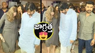 Pawan Kalyan CUTE Conversation With Anna Lezhne...