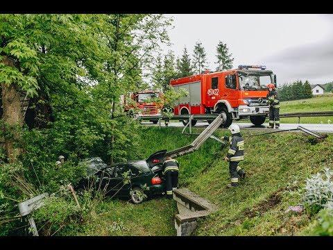 Dobra. Zderzenie ciężarówki z samochdem osobowym - jedna osoba w szpitalu