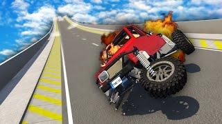 MASSIVE SKI JUMP OF DEATH! (BeamNG Drive Funny Moments)
