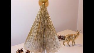 Book Art Foldet Juletræ
