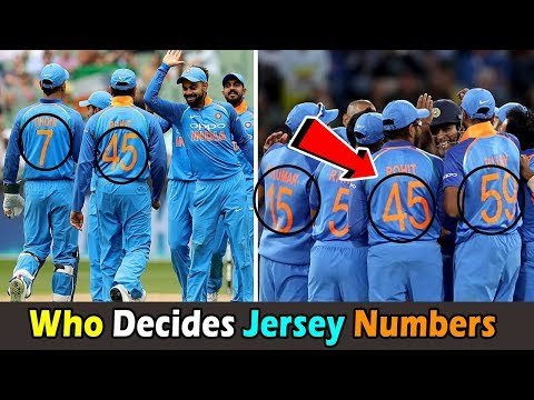 Who Decides The Jersey Numbers Of Indian Cricketers In World Cup 2019 । क्रिकेटरों के जर्सी संख्या