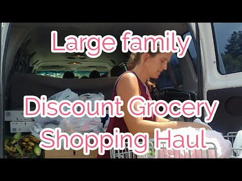 Large Family Discount Shopping and Grocery Haul...in my van:)