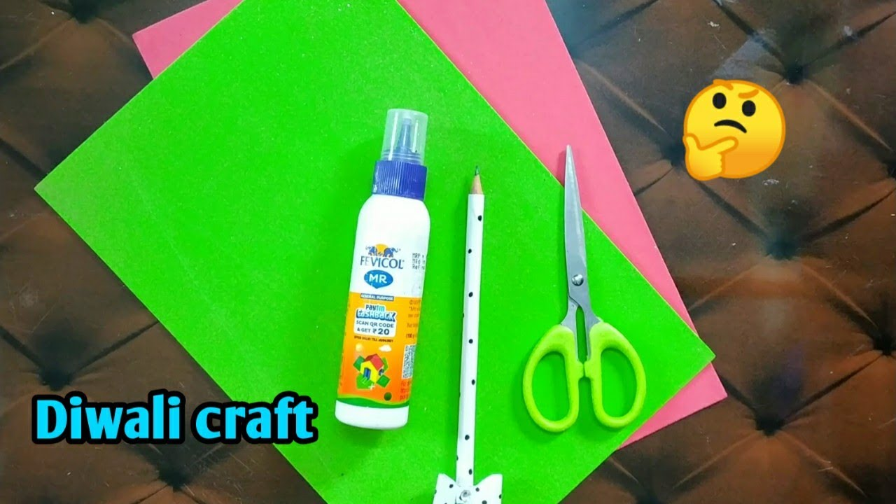 Glitter foam sheet Diwali craft idea in easy😎/craft tamil