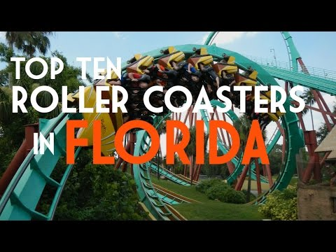 Top Ten Roller Coasters in Florida