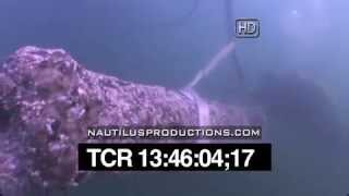 Blackbeard's Queen Anne's Revenge Shipwreck Project Cannon Raising Nautilus Productions HD Footage