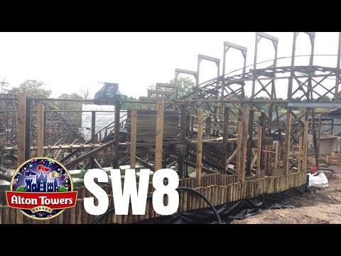 Alton Towers SW8 Construction Update - 1st October 2017