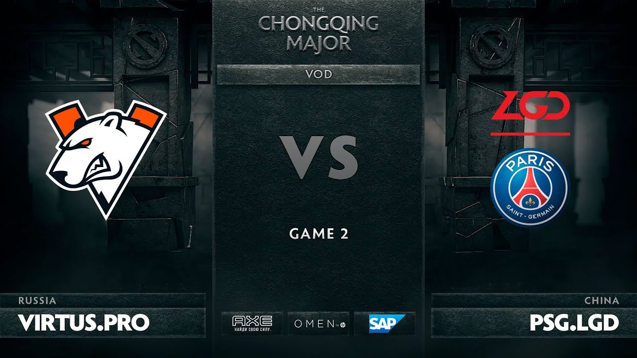 RU Virtus Pro Vs PSG LGD Game 2 The Chongqing Major UB