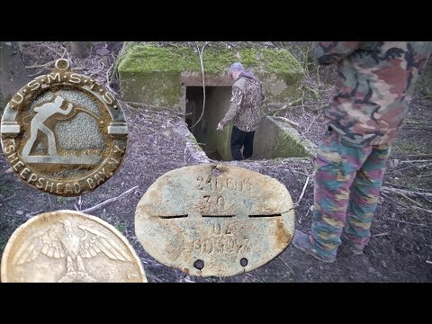 Rare WW2 MEDALS & DOG TAGS dug up in France