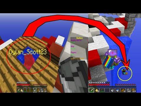 👉 Epic Trolleo A Un Steve Noob AFK!! - SkyWars Minecraft