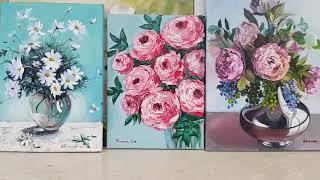 화실풍경,취미그림,아크릴화,유화, acrylic pai…