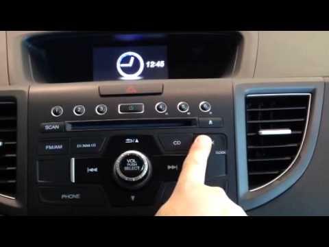 2014 Honda CR-V Guide to Setting your Clock - YouTube