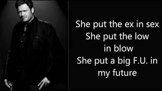 She's Got A Way With Words - Blake Shelton (Lyrics Onscreen + MP3 Download)