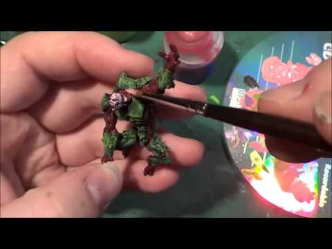 Painting Deadzone: The Leaping Stage 2 mutant. Part 2
