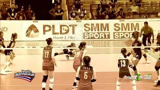 """ไฮไลท์ """"เอสเอ็มเอ็ม"""" วอลเลย์บอลหญิงชิงแชมป์เอเชีย 2017 : ไทย [3] ชนะ จีน [2]"""