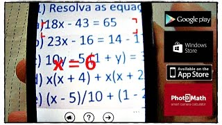 PhotoMath: Resolva equações com a câmera do celular