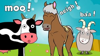 Farm Animals Song with Number Farm | Toddler Fun Learning