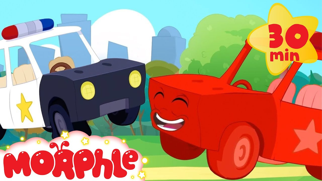 My Red Police Car - My Magic Pet Morphle | Cartoons For Kids | Morphle TV
