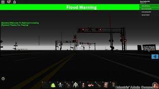 Roblox: Trenes CSX en un cruce ferroviario