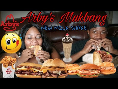 ARBY'S MESSY MUKBANG • SMACKING, MESSY EATING SHOW