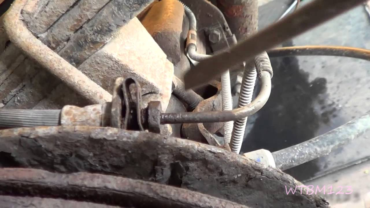 medium resolution of sierra silverado soft spongy brake pedal installing russel brake lines youtube