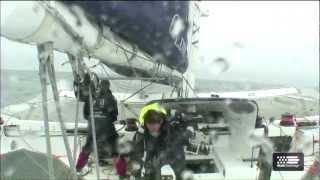 Krys Ocean Race - jour 4 - navigation par gros temps pour les MOD 70