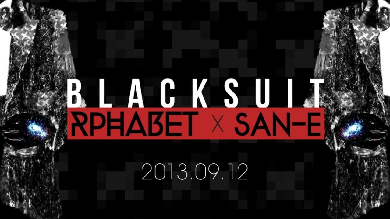 rphabet black suit