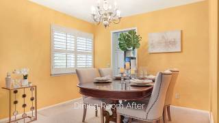 Diamond Bar Before and After Staging by Storybook Styling Cindy Dole