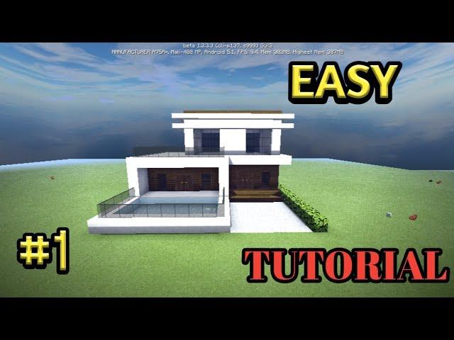 Minecraft PE:TUTORIAL CARA MEMBUAT RUMAH MODERN  #1 |MINECRAFT INDONESIA