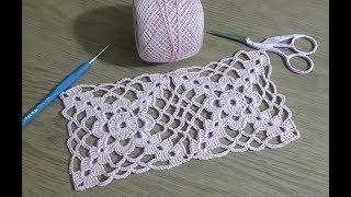 Çeyizlik Kare Dantel Motifi Yapımı, Tığişi Örgü Motif yapılışı \u0026 Crochet
