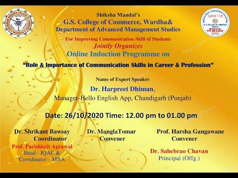 Communication Skill Induction Program - Day 1