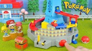 Pokemon Car Race   Run!! Lumiose City   Toys Video For Kids