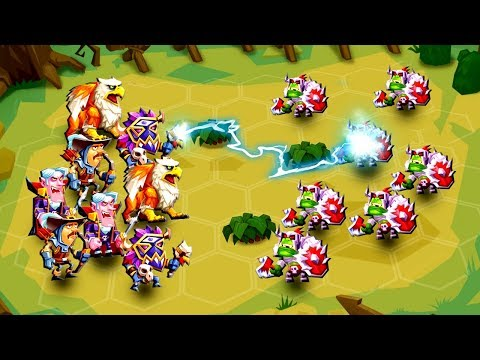 Epic CLASH OF ARMIES!  NEW FREE GAME (Tactical Monsters Rumble Arena Gameplay part 1)
