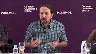 Intervención de Pablo Iglesias en la reunión del Consejo Ciudadano Estatal.