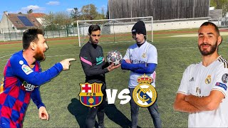 REAL MADRID VS BARCELONE DEFIS FOOTBALL ! MESSI VS BENZEMA