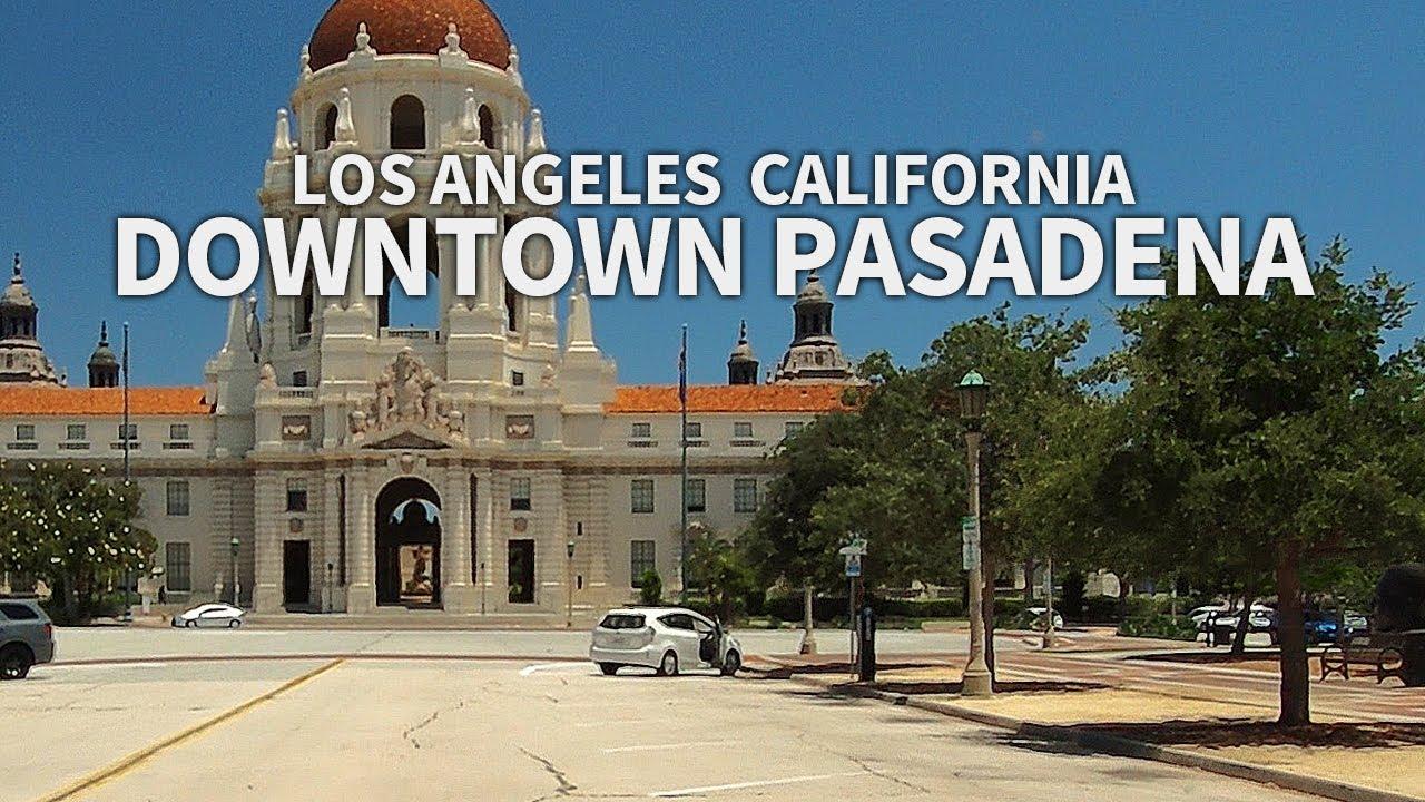 PASADENA - Driving Downtown Pasadena, Los Angeles, California, USA