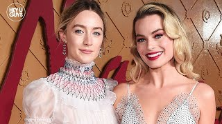 margot robbie saoirse ronan making people laugh