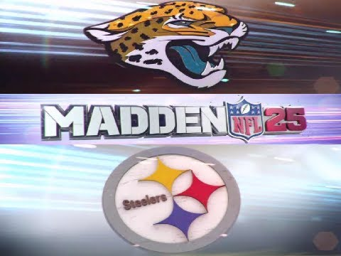 MADDEN 25 JAGUARS VS STEELERS - PRE-RELEASE VIDEO RETAIL DISC - UNIS: JAX AWAY, PIT 60s; SNOW, 8:30P
