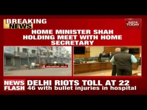 Delhi Violence: Amit Shah Holds Meeting With Home Secretary & IBOfficials