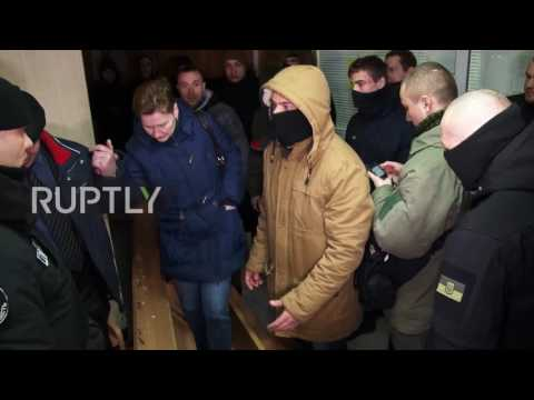 Ukraine: Protesters scuffle with police causing postponement of Odessa violence case