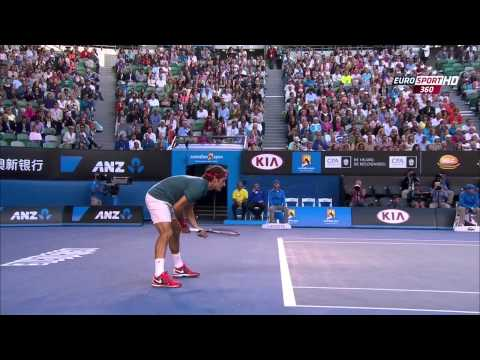 Roger Federer Vs Andy Murray Australian Open 2014 1 Set/First Set 720 HD